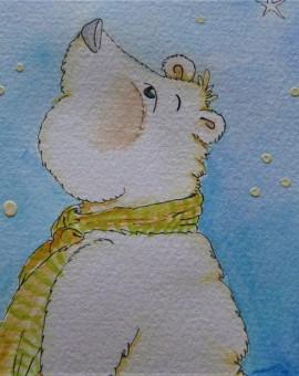 1er plano cara bufanda oso polar constel.