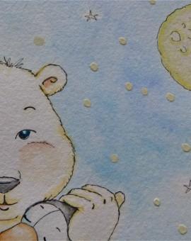 1er plano cara oso polar acunando pimg.