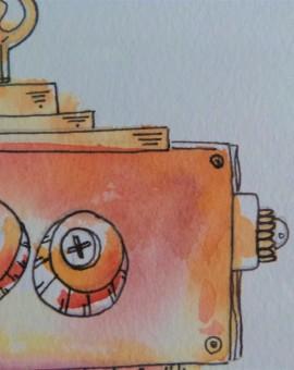 1er plano detalle cabeza robot5