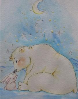 oso polar mimos conejjito