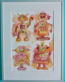 robots enmarcados