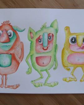 trio monstruos